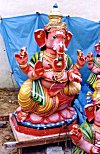 A Painted Idol of Elephant Headed Ganesh at Marketplace