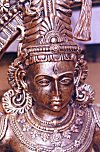Metallic Bust of Lord Vishnu