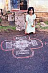 Early Morning Art Outside a Tamilian Home