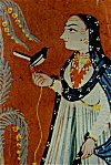 Mogul Painting: Lady with a bird