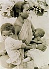 Santali mother with two children