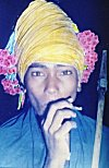 Adivasi Dancer Stops for a Smoke