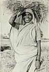 Tribal Woman Carrying Hay