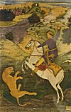 Babur Hunting a Tiger