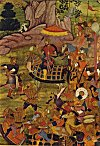 Mogul Emperor Babur with his Army