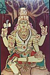 Lord Shiva in Gesso Art work