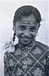 Veerashaiva Girl with Ash on Forehead