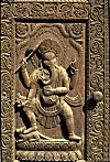 Ganesh on a Carved Wooden Door