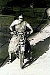 How to ride a Motorized Cycle in a Saree