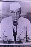 Subhash Chandra Bose Making a Radio Broadcast