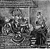 Lord Brahma and Adhiti - 19th Century Illustration