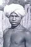 Tribal Man on way to Marketplace