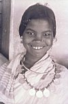 Tribal Girl and her Coin Necklace