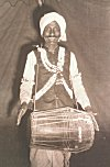 Dholak (a type of Drum) Playing Dancer