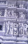 Khajuraho Temple Panels Depicting Mithuna