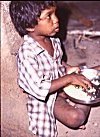 A Handicapped Boy at a Choultry
