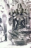 Sculpture of a Devi in Black Granite