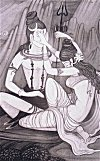 Uma and Shiva in a Game of Love