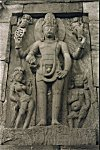 Towering Sculpture of Lord Vishnu
