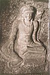 Sitting Lord Shiva -- from a Cave in Ellora