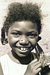 A Smiling Siddi Girl