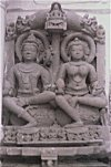 Sculpture of Shiva and Parwati