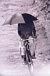 How to Balance Bicycle, a Can of Milk and an Umbrella