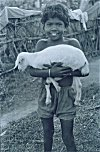 A Santali Girl and Her Pet