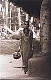 Halakki  Woman in front of her Habitat