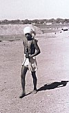 Muria Tribal Youngster with an Axe