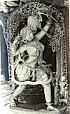 Huntress -- Sculpture from Belur