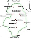 Map of the Bastar District