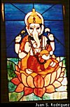 Ganesh in Stained Glass