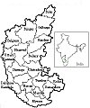 A District-wise Map of Karnataka