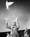 Nehru Releasing a Dove