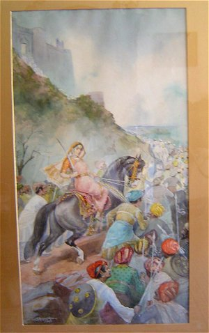 Queen of Jhansi by Mahadev Vishvanath Dhurandhar, 1927
