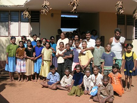 Pupils and Teachers at an Orphanage