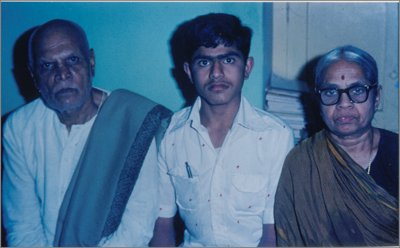 Vikas (in center) with Gorur Couple