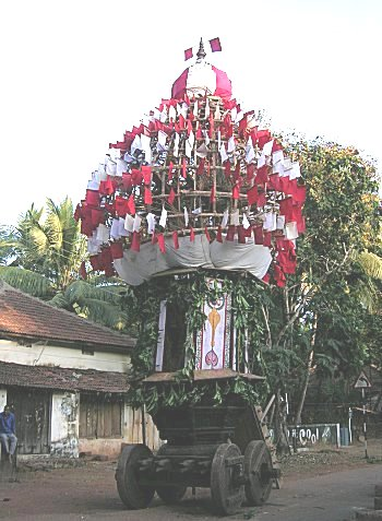 Four Wheeled Temple Chariot