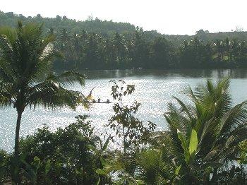 Floating in Aghanashini River