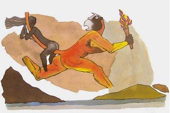 Hanuman and Sita