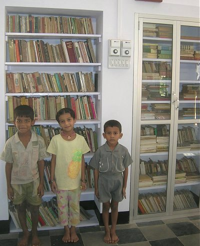 Kids at Kamat Memorial Library